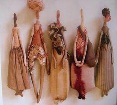 Manon Gignoux's dolls via Kickcan & Conkers