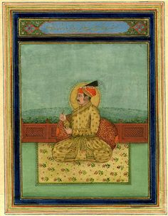 Jahangir sitting on terrace Sufi Saints, Last Emperor, Indian Artwork, Muhammad, Persian, Terrace, Miniatures, Carving, Calligraphy