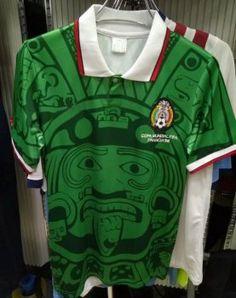Mexico Home Green 1998 Retro Jersey  F648  Soccer Uniforms 31d0716f79338