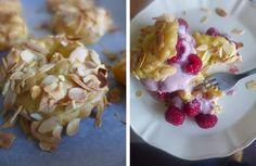 petiscosemiminhos: Paris-Brest com recheio de iogurte e framboesas