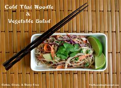 Cold Thai Noodle and Vegetable Salad (gluten, grain, and dairy free)