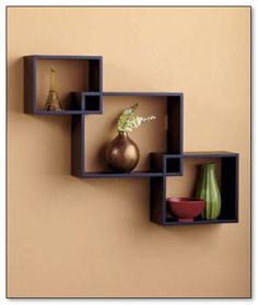 ideas wall display case creative for 2019 Cube Wall Shelf, Wall Shelf Decor, Wood Wall Shelf, Wall Shelves Design, Corner Shelves, Wall Design, Cube Shelves, Wood Shelves, Wall Display Case