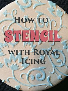 how to stencil on cookies with royal icing