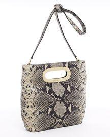 Michael Kors Shoulder Bags - MICHAEL Michael Kors Berkley Medium Messenger, Dark Sand Python - $84.00 - michael kors outlet, burberry handbags, guess handbags