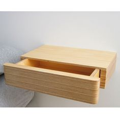 Pacco Floating Drawer in Natural Birch Ply by MochaUK on Etsy