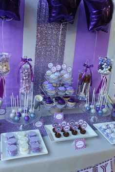 Considerate reorganized quinceanera party DIY useful site Sweet 16 Party Decorations, Quince Decorations, Birthday Decorations, Sweet 16 Themes, Sofia The First Birthday Party, 18th Birthday Party, Birthday Party Themes, Birthday Crafts, Purple Birthday