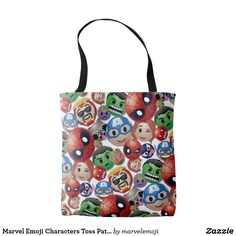 Shop Marvel Emoji Characters Toss Pattern Tote Bag created by marvelemoji. Emoji Characters, Comic Book Characters, Emoji Design, Rocket Raccoon, Big Design, Marvel, Smile Face, Fashion Accessories, Reusable Tote Bags