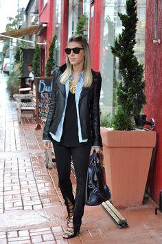 Meu Look: Jeans & Black - Glam4You - moda it