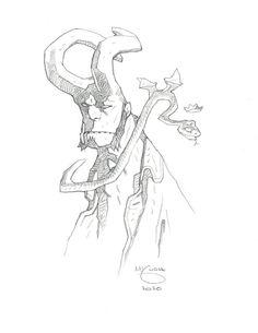 Hellboy by Mike Mignola * Comic Book Artists, Comic Artist, Hellboy Wallpaper, Hellboy Tattoo, Mike Mignola Art, Artist Alley, Science Fiction Art, Robot Art, Art Design