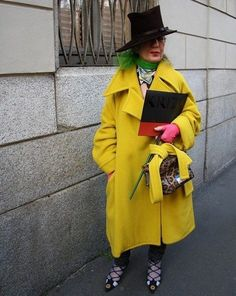 The late queen of eclectic chic: Anna Piaggi.