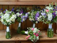 Bouquets in pastel colours