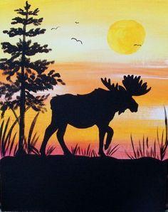 Moose Silhouette - Art By Bess