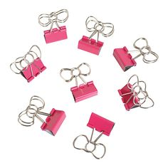 See Jane Work® Binder Clips, Bow Clips, Pink, Pack Of 8 $3.99 at Office Depot OfficeMax from http://thesororitysecrets.blogspot.com/2014/03/workspace-chic-with-office-depotsee.html