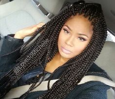 Box braids / protective hairstyle / natural hairstyle / braids / poetic justice braids /