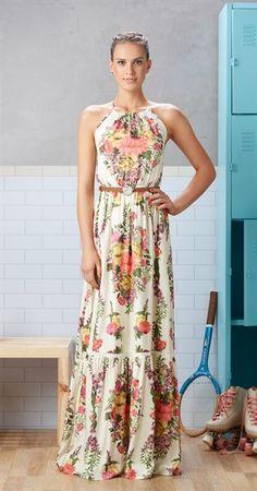 Vestido Longo Bouquet