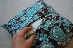 An easy envelope pillow case! Now I can wash my cases!