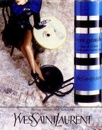 Rive Gauche by Yves Saint Laurent. Perfume Names, Perfume Ad, Vintage Perfume, Perfume Bottles, Anuncio Perfume, Parfum Yves Saint Laurent, Cosmetics And Toiletries, Glamorous Makeup, Rive Gauche