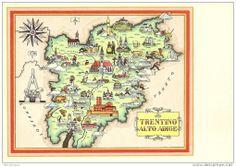 Trentino Sud Tirol map italia Pinterest Tyrol Italia and Italy