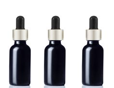 3 BLACK FROSTED Premium 1 Oz Glass Boston Round Matte Silver/Black Dropper Bottle 30ml Medicine Pipette Oil Serum Essential Oils Dispensing... Check Out in at our website:- https://www.etsy.com/shop/GrandParfums www.amazon.com/shops/grand-parfums-ii…