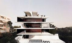 314 architecture studio stacks h34 seaside apartments in athens - designboom | architecture