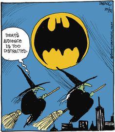 Strange Brew by John Deering for October 2014 - Caarton Laugh Cartoon, Funny Cartoons, Funny Jokes, Cartoon Humor, Hilarious, Easter Cartoons, Halloween Cartoons, Halloween Humor, Batman Cartoon