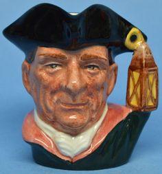 """Miniature Royal Doulton Character Jug """"Night Watchman""""  D6583 Toby Mug"""
