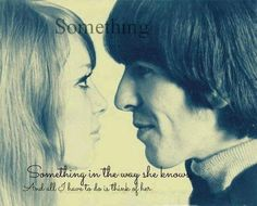 Pattie Boyd-Harrison and George Harrison (Source- http://weheartit.com/entry/57836190)