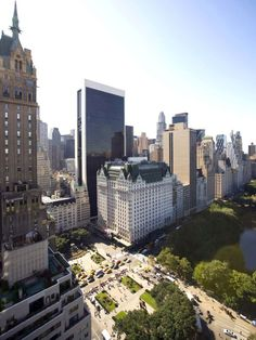 NYC. Central Park South East corner and Plaza Hotel