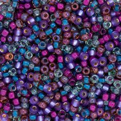 Size 11 Violet Round Japanese Seed Bead Mix by FusionBeads.com® | Fusion Beads