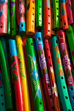 Traditional Cinco de Mayo Music is played on colorful flutes