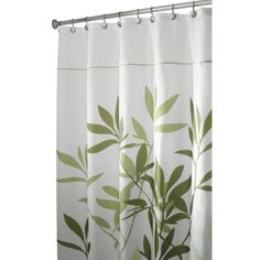 InterDesign Leaves Stall Shower Curtain, Green: Amazon.ca: Home & Kitchen