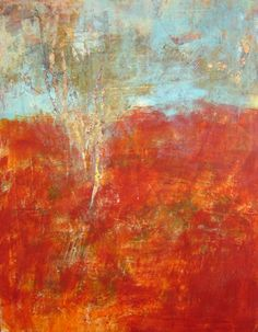 "Cindy Walton | Natural Elements | oil and cold wax on panel, 40""x30"" /sm www.cullowheemountainarts.org"