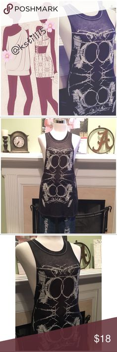 NWOT Tokyo Darling Graphic Tank Keep an open mind and free yourself with this unique rustic grunge style tank from Tokyo Darling. Lightweight and semi-sheer. Group with any type of denim or leggings. Never worn.  ✖️trades ✔️reasonable offers Aeropostale Tops Tank Tops