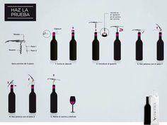 Échale un ojo a estos sencillos consejos para abrir una botella de vino sin ningún accidente!