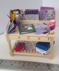 Dolls House Miniatures Scrapbook Craft por LittleHouseAtPriory