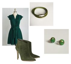 """""""Shades of green"""" by littlegemsbyluisa on Polyvore featuring Gianvito Rossi"""