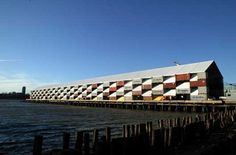 his is a travelling exhibit idea whose time has come. This 45 000 square foot temporary structure, designed by Shigeru Ban, is made of 148 stacked shipping containers on Pier 54 in Manhattan. Subsequent stops for the Nomadic Museum will be Los Angeles and then on to the Vatican