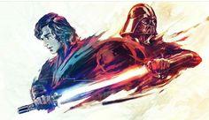 Star Wars Anakin Skywalker and Darth Vader