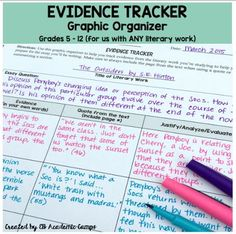 Middle School Mob: Evidence Tracker for Reading Comprehension & Argumentative Writing Middle School Ela, Middle School English, Middle School Classroom, English Classroom, Ela Classroom, High School, Classroom Ideas, History Classroom, School Teacher