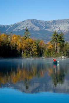 Ah, the beauty of Mount Katahdin in pristine Northern Maine!  |  Katahdin Lake Wilderness Camps