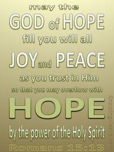 Romans 15:13 God Of Hope (sage)