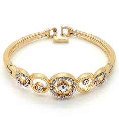 Bangle Bracelet: This kind of bracelet is the most common and most popular type because it is easily available, and highly affordable!  #bangle #bracelet
