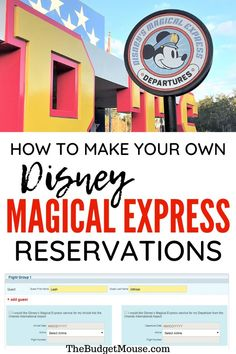 How to make your own Disney Magical Express reservations either online or on the phone. You will need a reservation to catch a ride on this free Disney bus! Disney World Parks, Disney World Planning, Walt Disney World Vacations, Disneyland Trip, Disney World Tips And Tricks, Disney Tips, Disney Art, Disney World Transportation, Transportation Services