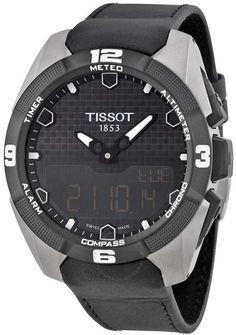 bda90ef9e7f Tissot T-Touch Expert Solar Black Analog Digital Dial Black Leather Men s  Watch - T-Touch Expert - T-Touch Collection - Tissot - Shop Watches by  Brand - ...