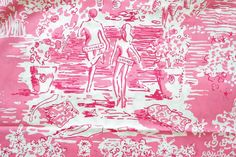 Lilly Pulitzer Fabric ~ Hotty Pink Skinny Dippin Mini ~ 1 yard