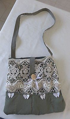 HANDMADE QUILTED COTTON  BAG ONE OF A KIND PURSE BAG DEPTH 15 BAG LENGTH 14 TOTE