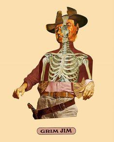 Moon Patrol, Eduardo Paolozzi, Art Alevel, Surreal Collage, Collage Artists, Pulp Art, Horror Art, Skeletons, Digital Collage