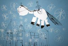 Svatý Martin na bílém koni. Práce předškoláků našeho výtvarného studia. Martini, Diy And Crafts, How To Make, Character, Pictures, Martinis, Lettering