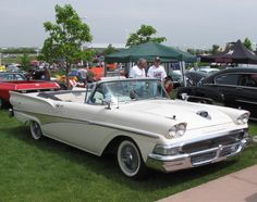 1958 Ford Convertible - White