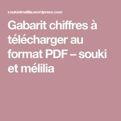 Gabarit chiffres à télécharger au format PDF – souki et mélilia